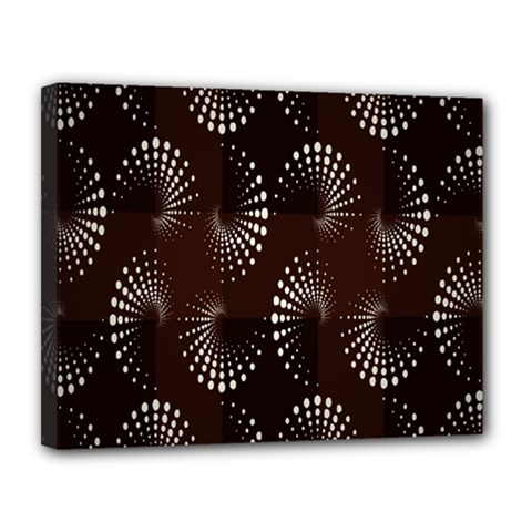 Free Dot Spiral Seamless Canvas 14  X 11  by AnjaniArt