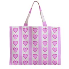 Heart Pink Valentine Day Zipper Mini Tote Bag by AnjaniArt