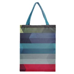 Line Light Stripes Colorful Classic Tote Bag by AnjaniArt