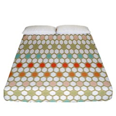Lab Pattern Hexagon Multicolor Fitted Sheet (California King Size)
