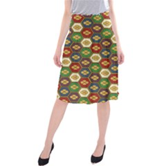 Ilus Origami Midi Beach Skirt by AnjaniArt