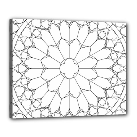 Roses Stained Glass Canvas 20  x 16  by Amaryn4rt