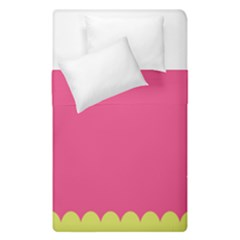 Pink Yellow Duvet Cover Double Side (single Size) by AnjaniArt