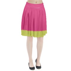Pink Yellow Pleated Skirt by AnjaniArt