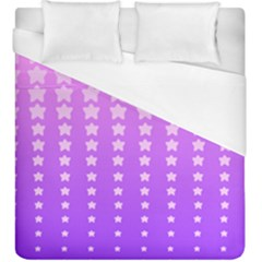 Purple And Pink Stars Duvet Cover (King Size) by AnjaniArt