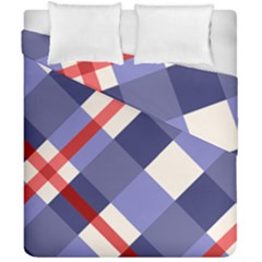 Red And Purple Plaid Duvet Cover Double Side (california King Size) by AnjaniArt