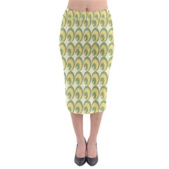 Pattern Circle Green Yellow Midi Pencil Skirt by AnjaniArt