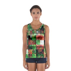 Paper Background Color Graphics Women s Sport Tank Top