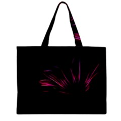 Purple Flower Pattern Design Abstract Background Zipper Mini Tote Bag by Amaryn4rt