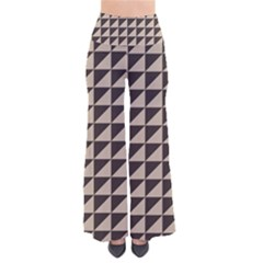 Brown Triangles Background Pattern  Pants by Amaryn4rt