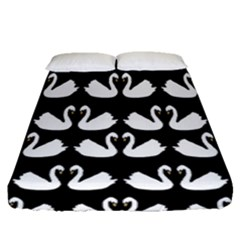 Swan Animals Fitted Sheet (queen Size)
