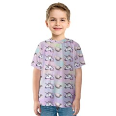 Tumblr Unicorns Kids  Sport Mesh Tee by AnjaniArt
