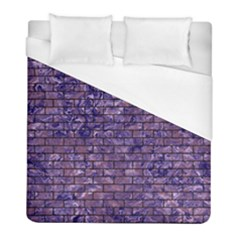 Brick1 Black Marble & Purple Marble (r) Duvet Cover (full/ Double Size) by trendistuff