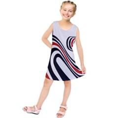 Curving, White Background Copy Kids  Tunic Dress by Jojostore