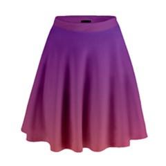Purple Orange Blue High Waist Skirt by Jojostore