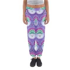 Background Floral Pattern Purple Women s Jogger Sweatpants by Amaryn4rt