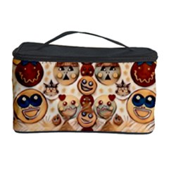 Festive Cartoons In Star Fall Cosmetic Storage Case by pepitasart