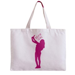 Selfie Girl Graphic Mini Tote Bag by dflcprints