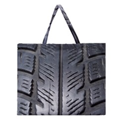 Mature Black Auto Altreifen Rubber Pattern Texture Car Zipper Large Tote Bag by Amaryn4rt