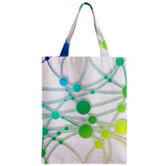 Network Connection Structure Knot Zipper Classic Tote Bag