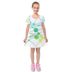 Network Connection Structure Knot Kids  Short Sleeve Velvet Dress by Amaryn4rt