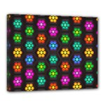 Pattern Background Colorful Design Canvas 20  x 16