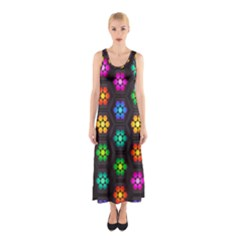 Pattern Background Colorful Design Sleeveless Maxi Dress