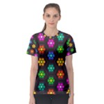 Pattern Background Colorful Design Women s Sport Mesh Tee