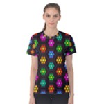 Pattern Background Colorful Design Women s Cotton Tee