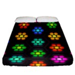 Pattern Background Colorful Design Fitted Sheet (Queen Size)