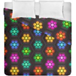 Pattern Background Colorful Design Duvet Cover Double Side (King Size)