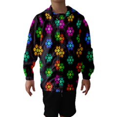Pattern Background Colorful Design Hooded Wind Breaker (Kids) by Amaryn4rt