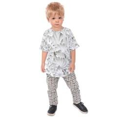 Pattern Motif Decor Kids  Raglan Tee
