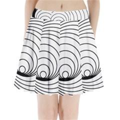 Spiral Eddy Route Symbol Bent Pleated Mini Skirt