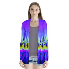Blue And Purple Flowers Cardigans by Jojostore