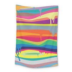 Colorfull Rainbow Small Tapestry by Jojostore