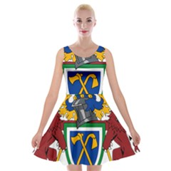 Coat Of Arms Of The Gambia Velvet Skater Dress by abbeyz71