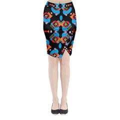 AMOUR DE AMOUR Midi Wrap Pencil Skirt by MRTACPANS