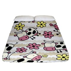 Cow Animals Fitted Sheet (queen Size)