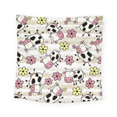 Cow Animals Square Tapestry (small) by Jojostore