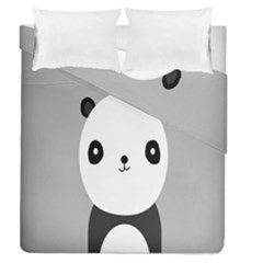 Cute Panda Animals Duvet Cover Double Side (Queen Size) by Jojostore