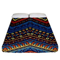Cute Hand Drawn Ethnic Pattern Fitted Sheet (California King Size)