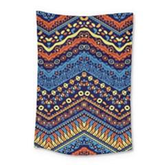 Cute Hand Drawn Ethnic Pattern Small Tapestry by Jojostore