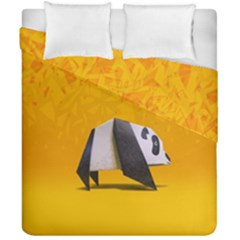Cute Panda Duvet Cover Double Side (california King Size) by Jojostore