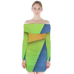 Lock Screen Long Sleeve Off Shoulder Dress by Jojostore