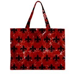 Royal1 Black Marble & Red Marble Zipper Mini Tote Bag by trendistuff
