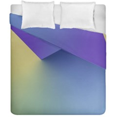 Purple Yellow Duvet Cover Double Side (california King Size) by Jojostore
