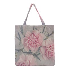 Cloves Flowers Pink Carnation Pink Grocery Tote Bag by Amaryn4rt