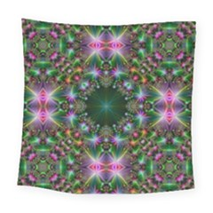 Digital Kaleidoscope Square Tapestry (large)