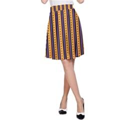 Printable Halloween Paper A-Line Skirt by Jojostore